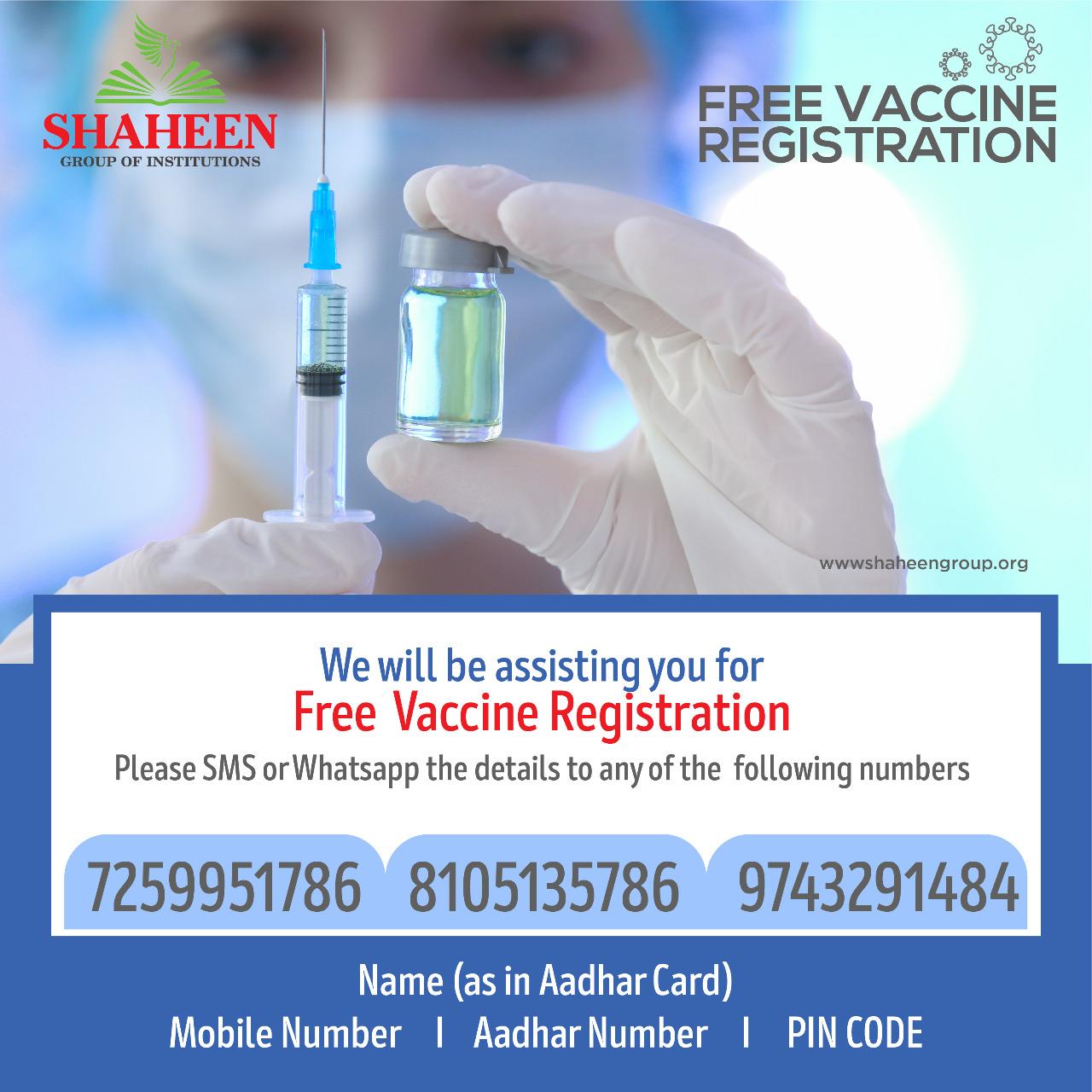 Free Vaccine Registration